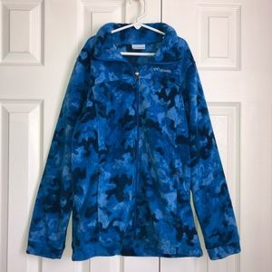 Kid's Boy's Columbia Blue Camo Jacket